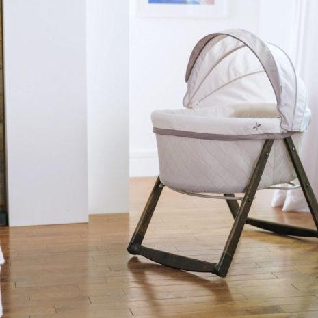 wooden bassinet folding