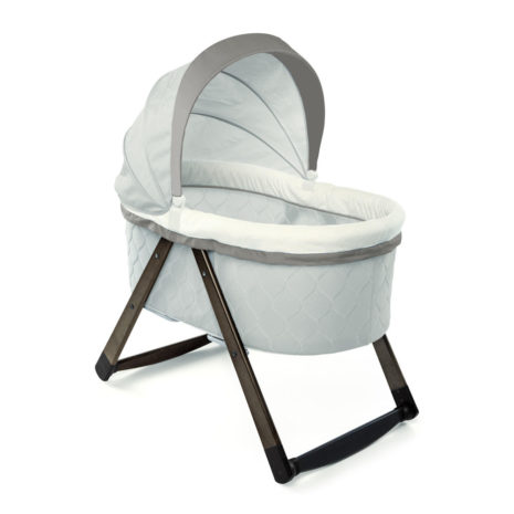 baby bassinet portable wooden hood
