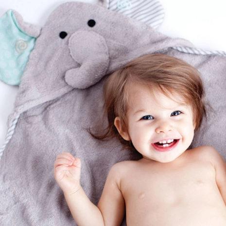 cute baby hooded animal towel