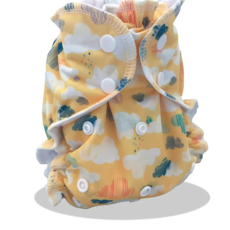 gender neutral fun printed one size cloth diaper
