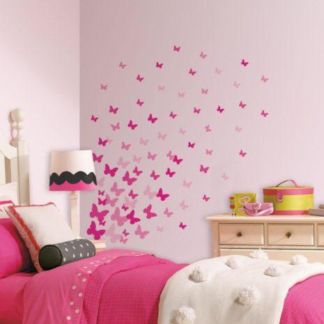 RoomMates Wall Decals - Pink Butterflies