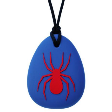 Munchables Spider Pendant - Navy/Red