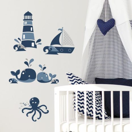 RoomMates Wall Decals - Nautical Sea Friends