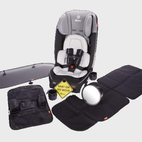 car seat with accessories 3 across