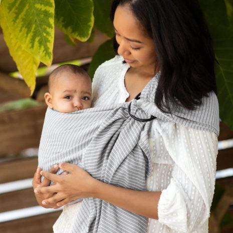 baby wearing sling