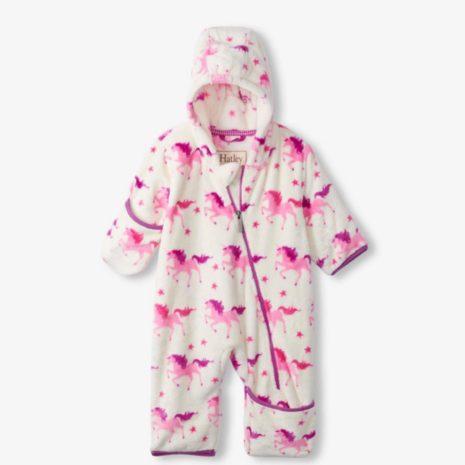 Hatley Twinkle Unicorns Fuzzy Fleece Baby Bundler