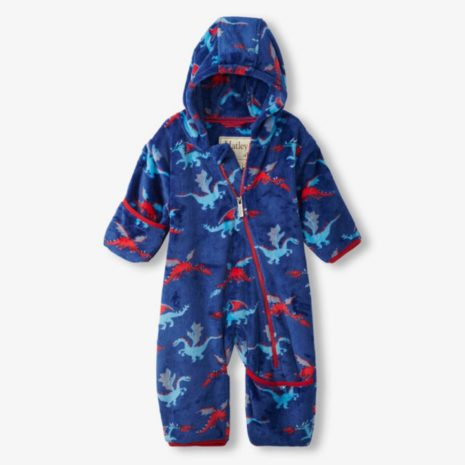 Hatley Fierce Dragons Fuzzy Fleece Baby Bundler