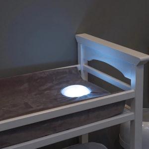 night light built in change pad for nursery