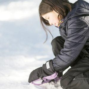 long cuff warmest waterproof kids mitts