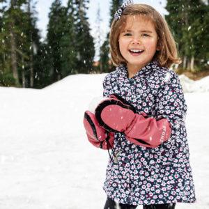 warmest kids long cuff mitts