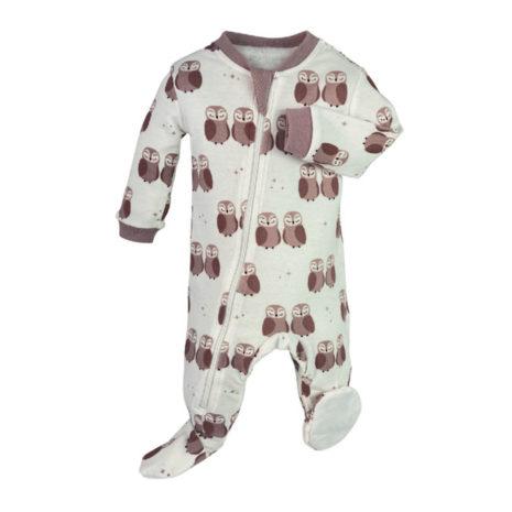 baby girl zipper organic sleeper