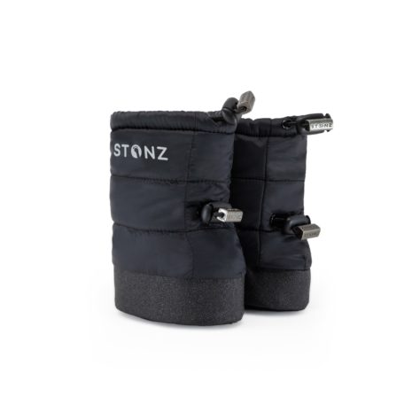 Stonz Baby Puffer Booties- Black