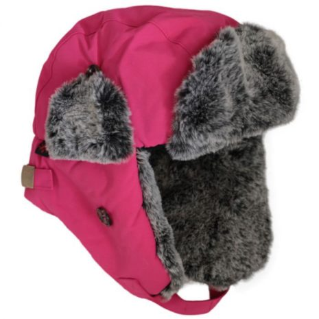 Calikids Faux Fur Lined Trapper Hat - Fuschia