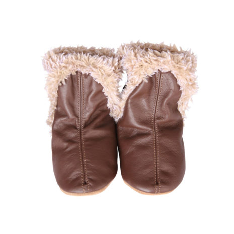 soft leather baby booties