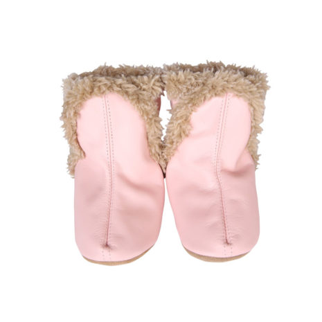 cozy baby leather booties