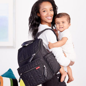 lots of storage and compartments diaper bag