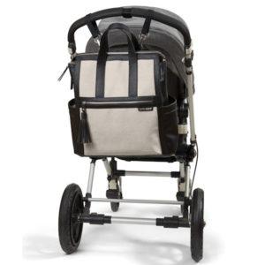 back back diaper bag with stroller clips